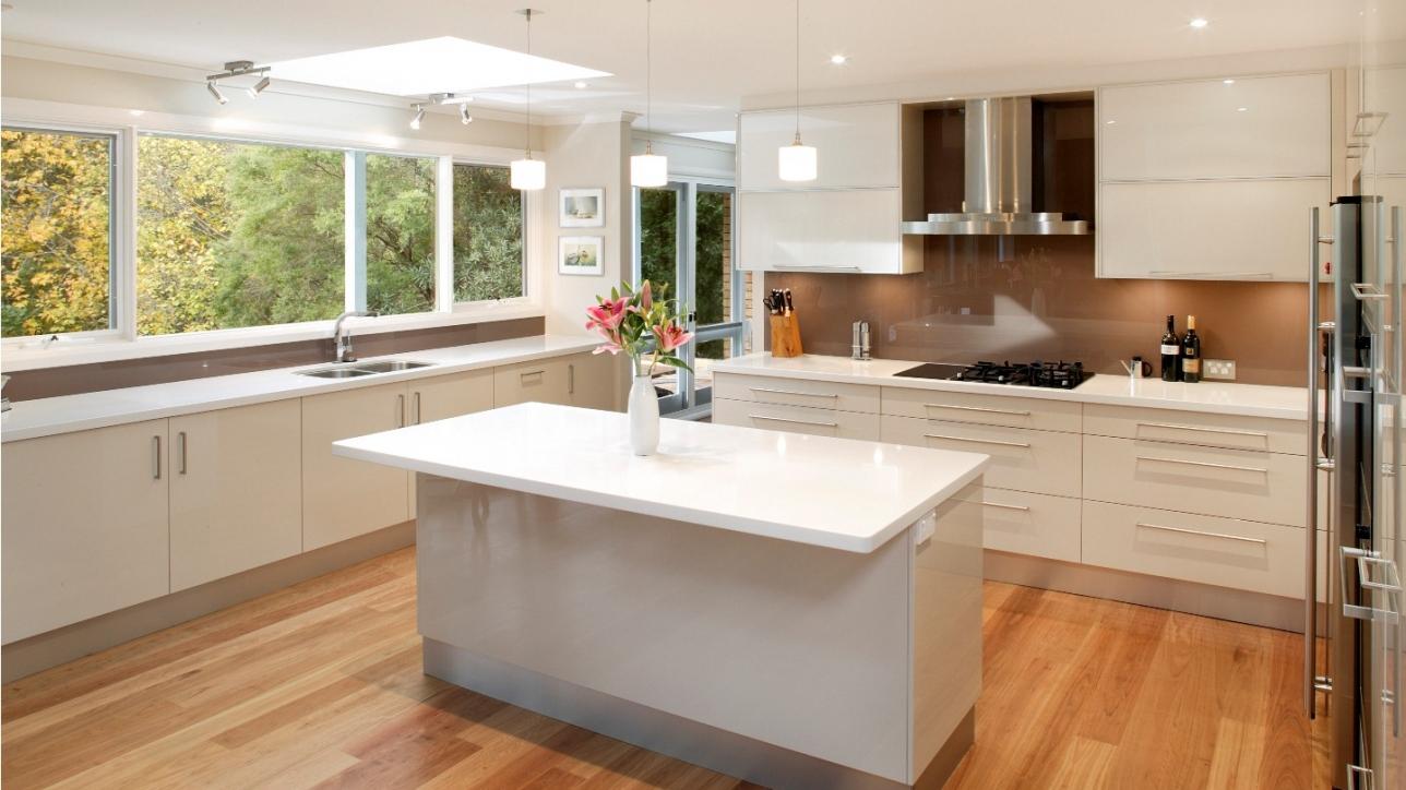 Cucina moderna parquet